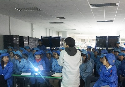电子产品组装车间培训
